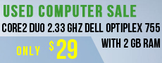 Used Computer Sale Core2 Duo 2.33 Ghz Dell Optiplex 755 With 2 Gb Ram